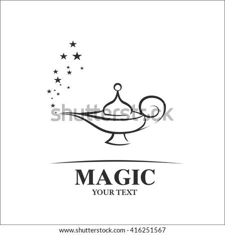 Magic lamp - stock vector