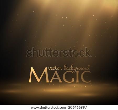 Magic light background. Vector eps10. - stock vector