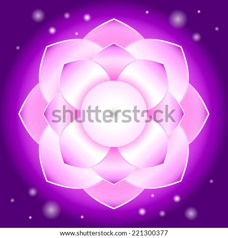 Magic Lotus flower - stock vector