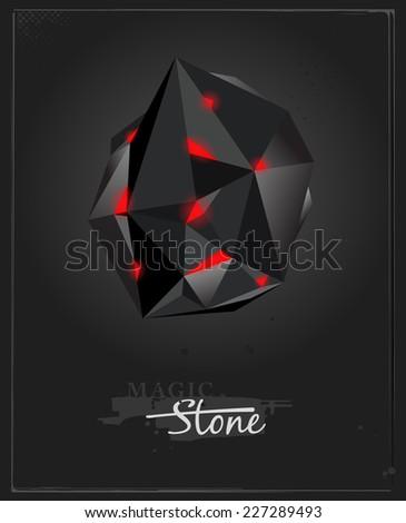 Magic stone. Abstract vector icon - stock vector