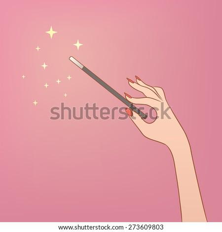 Magic wand - stock vector