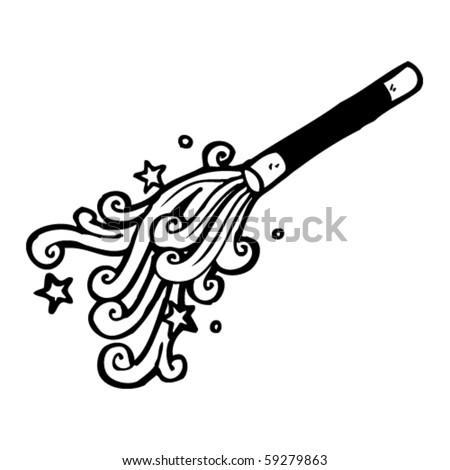 magicians wand cartoon - stock vector