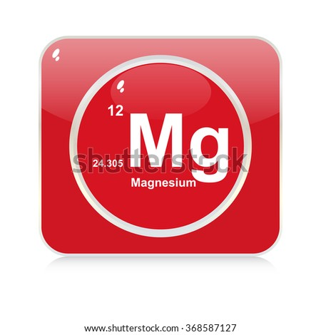 magnesium chemical element button - stock vector