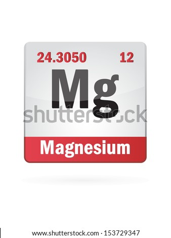 Magnesium Symbol Illustration Icon On White Background - stock vector