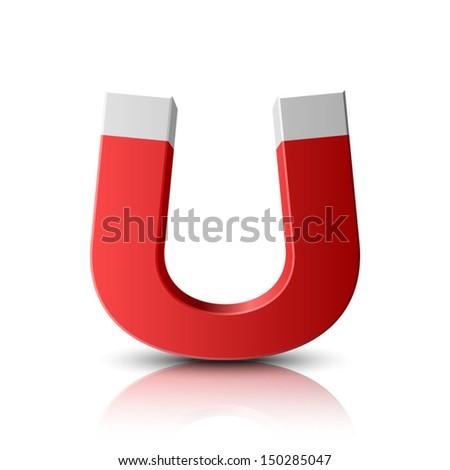 Magnet  - stock vector