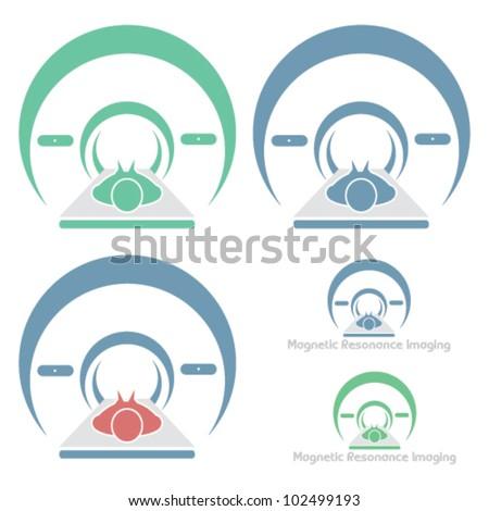 Magnetic Resonance Imaging - vector symbol - stock vector