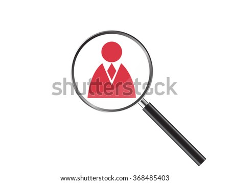 Magnifier Concept with web icon, Vector Illustration EPS 10. - stock vector