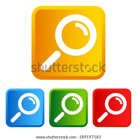 Magnifier glass on squares - stock vector