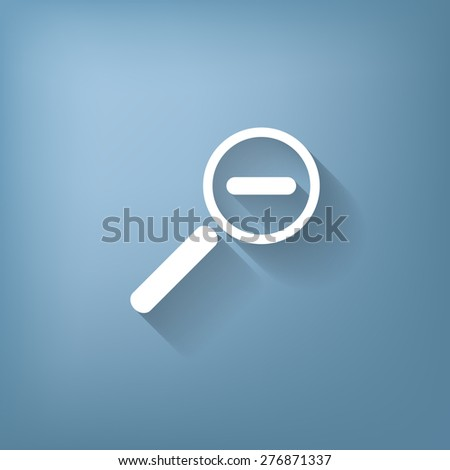 magnifier reduction - stock vector