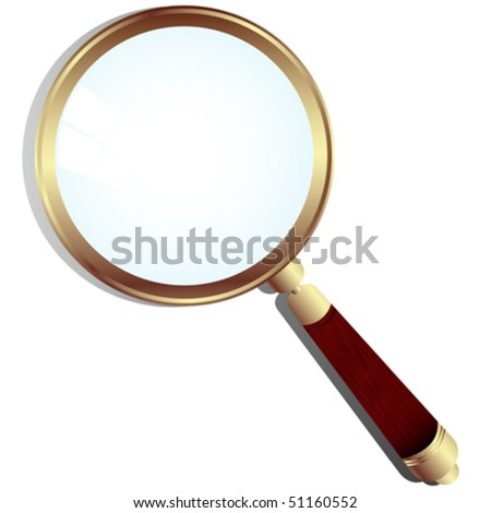 Magnifing glass - stock vector