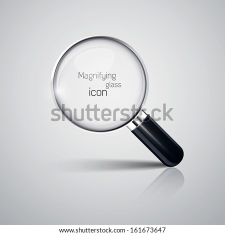 Magnifying glass icon. Vector - stock vector