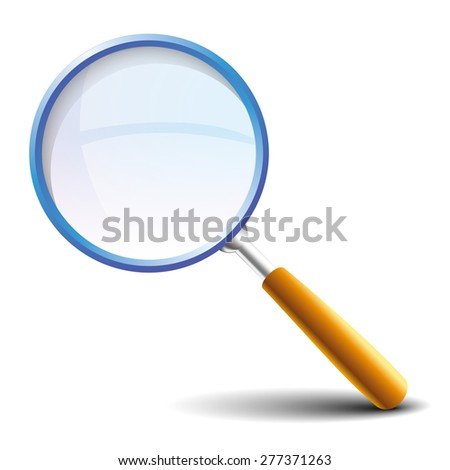 Magnifying glass icon, vector eps10 - stock vector