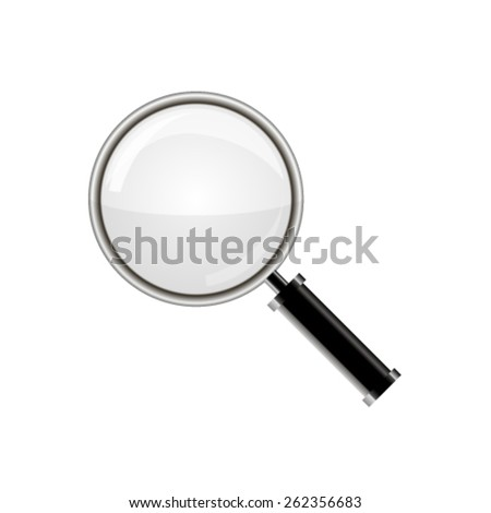Magnifying glass isolated on white background - stock vector
