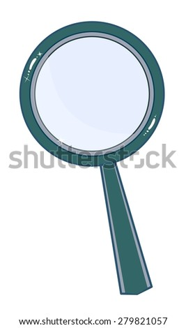 Magnifying glass isolated on white background. Search Icon. Stock Vector illustration. - stock vector