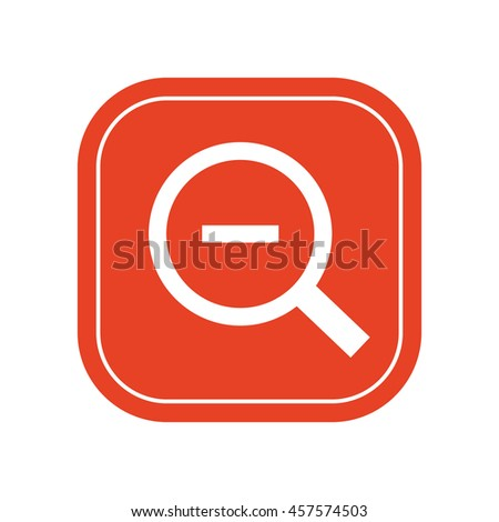Magnifying glass / loupe / zoom out icon / vector illustration - stock vector