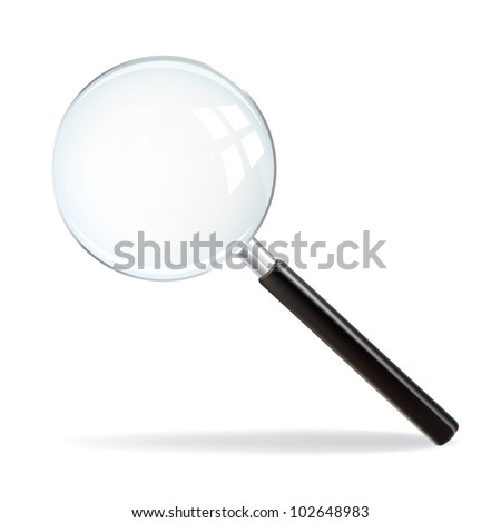 Magnifying Glass on white background - stock vector