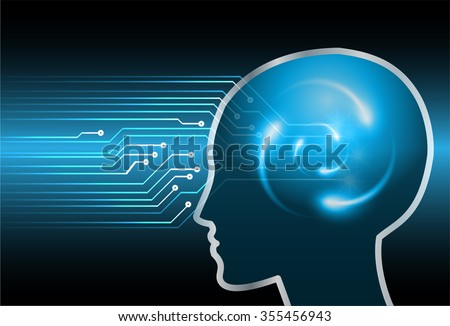Magnifying Glass scanning and identifying a computer virus. Anti virus protection and computer security concept. PC. one zero. scan.technology digital website internet web. Brainstorm,Brain.Bulb Ideas - stock vector
