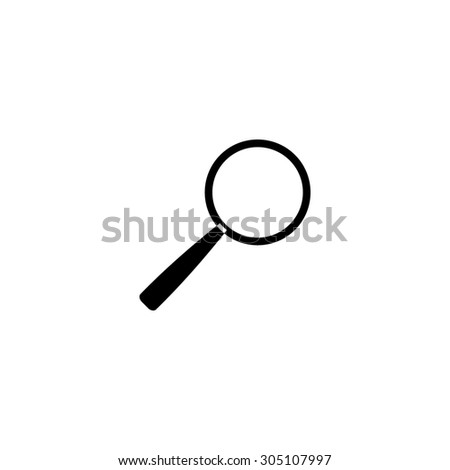 Magnifying glass. Search. Black simple vector icon - stock vector