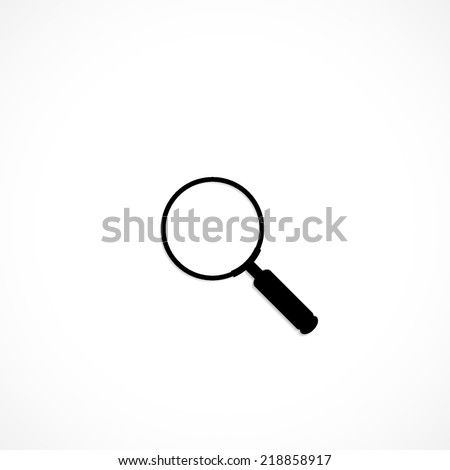 Magnifying glass Search, flat icon isolated on white background - stock vector