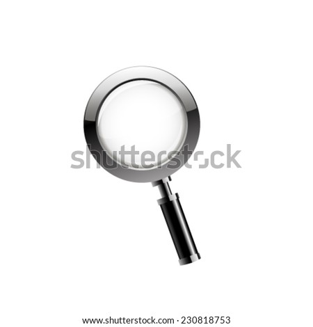 Magnifying glass. Vector - stock vector