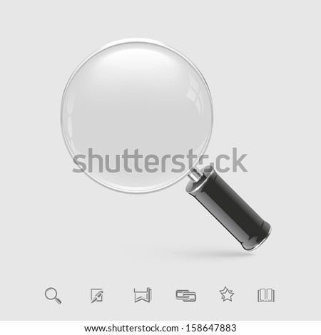 magnifying glass vector icon xxl - stock vector