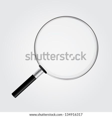 magnifying glass vector illustration - stock vector