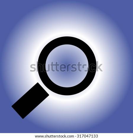Magnifying glass.Vector illustration - stock vector
