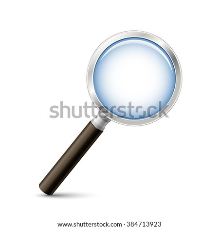 Magnifying glass vector illustration. Search or zoom vector icon - stock vector