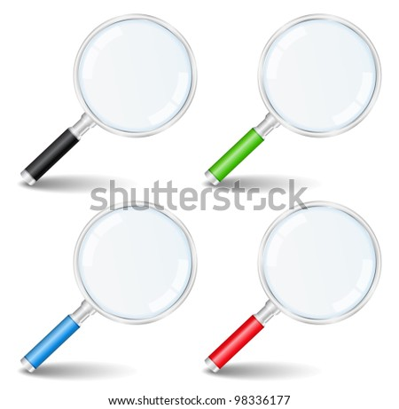 Magnifying glasses, vector eps10 illustration - stock vector