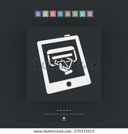 Mail box icon - stock vector