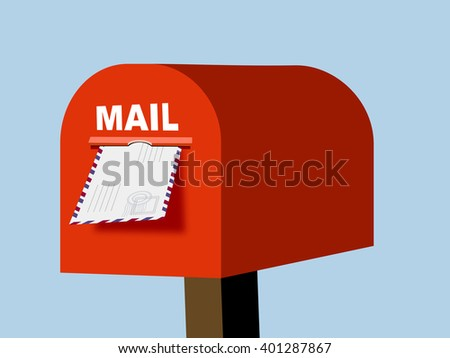 Mail box vector illustration. Mail box post. Mail box isolated from background. Mail box open. Mail box concept. - stock vector