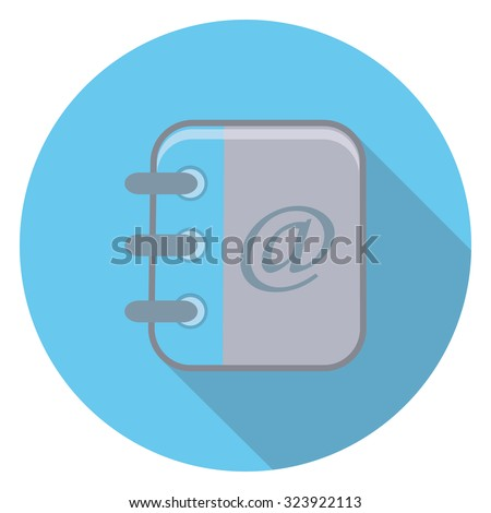mail document flat icon in circle - stock vector