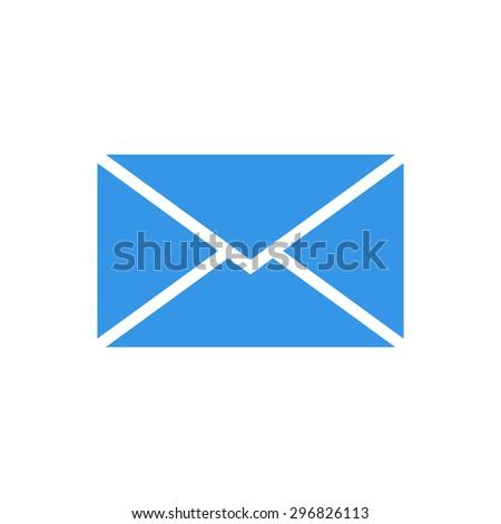 Mail envelope icon, modern minimal flat design style, vector illustration - stock vector