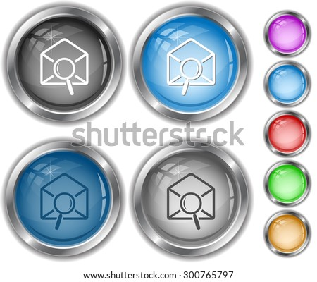 mail find. Internet buttons. - stock vector