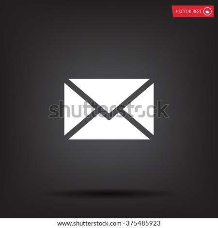 Mail icon. Vector - stock vector
