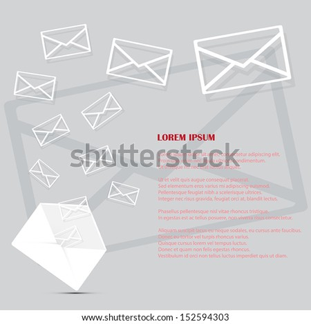 Mail icons background vector illustration - stock vector