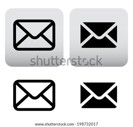 Mail icons, symbols for website, print layouts. - stock vector