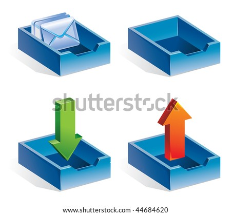 mail icons - vector illustration - stock vector