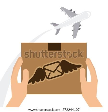 mail send design, vector illustration eps10 graphic  - stock vector