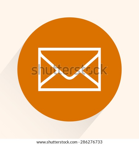 Mail sign icon, vector illustration. Flat design style - stock vector