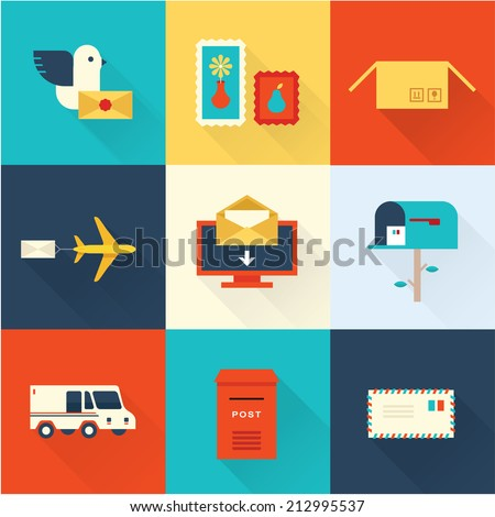 mail vector set - stock vector