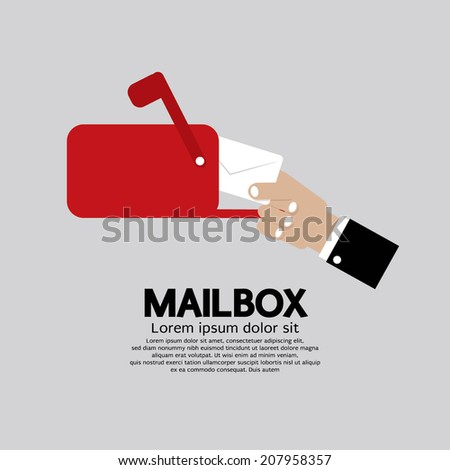 Mailbox Side View Vector Illustration - stock vector