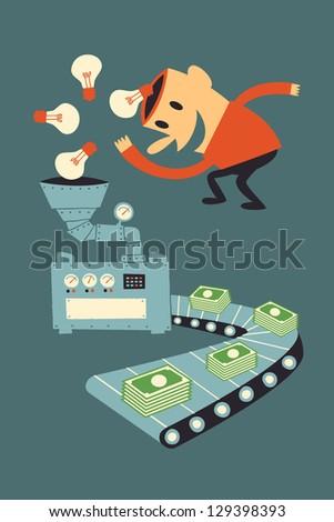 Make Money from ideas - stock vector