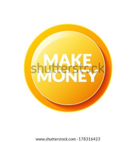 Make Money icon - stock vector