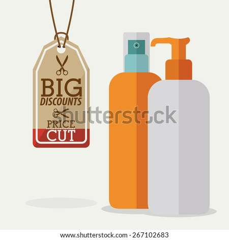 Make up design over white background, vector illustration - stock vector