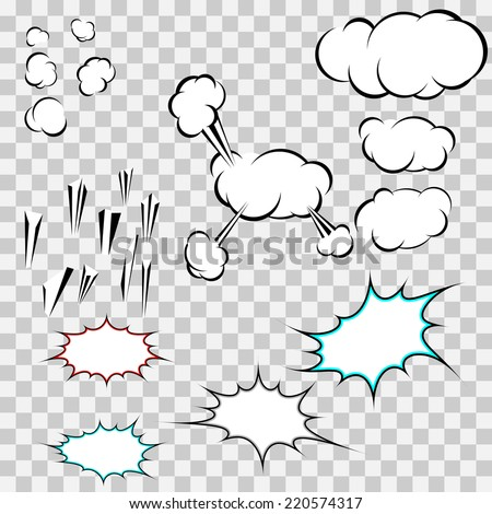 Make your own explosion clouds pack - expression chat sale pop-art bubbles. Vector illustration - stock vector