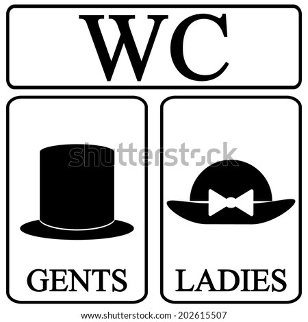 gents toilet sign stock photos  images    pictures restroom symbol vector free Printable Restroom Signs