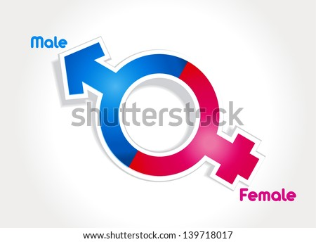 Male and female sex symbol vector - stock vector