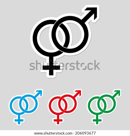 Male and female symbol - icon vector - stock vector