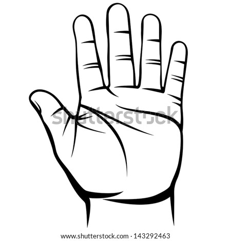 male hand - stock vector